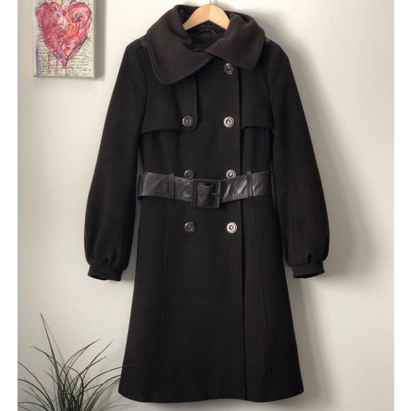 Mackage brown wool/cashmere coat
